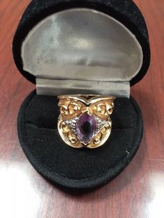 MARQUISE 14K & SS ALEXANDRITE DIAMOND ENGAGEMENT WEDDING BAND RING SZ 5 LAST 1 ! #EXCEPTIONALBUY #Solitaire