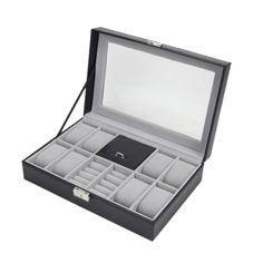 2461020 Slot Leather Jewelry Watch Display Case Box Storage