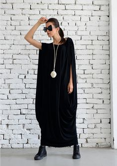 Long Black Dress  This clothing item is not only unique to the eyes, but extremely comfortable and easy to wear. And who says it has to be a little