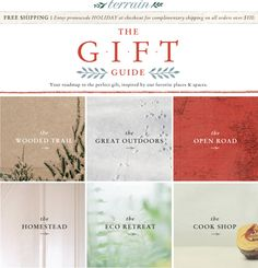 11.29.12 Visit Terrain's Gift Guide *