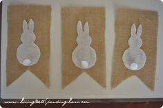 DiY No-Sew Burlap & Bunny Bunting {and Table Runner} | DiY Easter Decorations