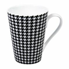 Konitz Escapada Houndstooth 4-pc. Mug Set