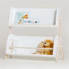 Shop Babyletto Tally Storage and Bookshelf. With a unique and modern design like no other, the Babyletto Tally Storage and Bookshelf has a two-tier construction ideal for toys, books and more.