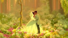 Screencap Gallery for The Princess and the Frog Bluray, Disney Classics). A modern day retelling of the classic story The Frog Prince. The Princess and the Frog finds the lives of arrogant, carefree Prince Naveen and hardworking Tiana And Naveen, Prince Naveen, Tiana Disney, Wedding Movies, Wedding Scene, Wedding Kiss, Wedding Beauty, Dream Wedding, Princesses