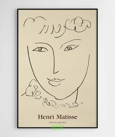 View La Pompadour by Henri Matisse on artnet. Browse more artworks Henri Matisse from ArtWise. Henri Matisse, Matisse Kunst, Matisse Drawing, Matisse Paintings, Matisse Art, Matisse Tattoo, Matisse Prints, Poster Club, Poster Art