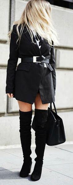 Black + belted.