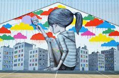 SETH. Event: Cheminance fest  collaboration: DEM189.  Location: Fleury Les Aubrais, France. Street Art - Graffiti - Urban culture.