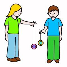 Jugar al yo-yo.