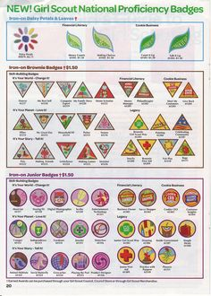 all girl scout badges chart - Google Search