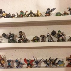 After considering a few different options, we went for these Mosslanda picture shelves from Ikea, at £8.95 each. If you have children of a certain age then you will no doubt know that Skylanders come in different elements so we're putting up a shelf for each element. They're in the sitting room rather than in Chiswick Boy's bedroom, as they look really aesthetically pleasing and after all the money we've spent on the figures (ha ha) I want to be able to enjoy them too!