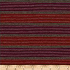 Designer Stretch Rayon Jersey Knit Stripe Grey