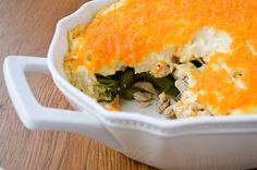 Chicken Casserole. Cheesy chicken and broccoli