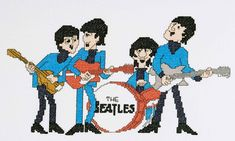 Beatles cross stitch
