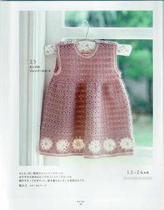 TRICO y CROCHET-madona-mía: Vestidos de crochet para niñas( patrones)
