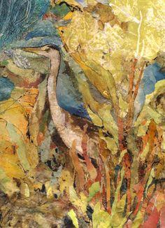 'Heron' Rosie Britton Mixed media Collage