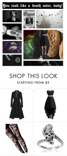 """MORSMORDRE - You look like a death eater, baby!"" by jerana97 ❤ liked on Polyvore featuring Roberto Cavalli, Alexander McQueen and Journee Collection"
