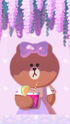 Shared by ป่านแก้ว. Find images and videos on We Heart It - the app to get lost in what you love. Lines Wallpaper, Bear Wallpaper, Cute Patterns Wallpaper, Cartoon Wallpaper, Iphone Wallpaper, Kawaii Chan, Brown Line, Friends Wallpaper, Favorite Cartoon Character