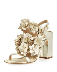 Blossom+Leather+65mm+Sandal,+Spark+Gold+by+Tory+Burch+at+Neiman+Marcus.