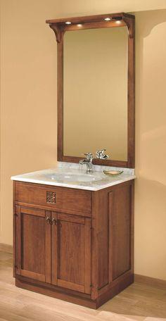 """Maße:   73 x 60 x 203 cm Farbe:   Walnuss  Ein sehr schmaler Waschtisch aus der Serie """"Ricordi"""", bestens geeignet für Ihr hochwertiges Gäste-WC oder die standesgemäße Ausstattung des Badezimmer in Ihrem luxuriösen Appartement.  Dieses kleine Badmöbel mit einem Top aus Carrara-Marmor ist genau das Passende für Sie, wenn Sie auch auf kleinem Raum italienisches Flair bei Ihrer Morgentoilette genießen wollen."""