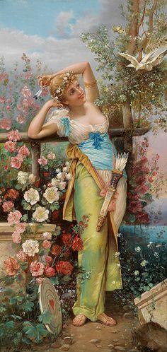 Hans Zatzka (Vienna, 1859–1945) -The Messenger of Love - by ARTECULTURA, via Flickr
