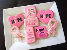 2 dozen Breast Cancer awareness cookies by NatSweetsCookies