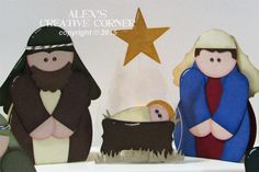 nativity, punch art, SU, Stampin Up, Curvy Keepsake, Mary, Joseph, Jesus, Christ, Christmas, manger