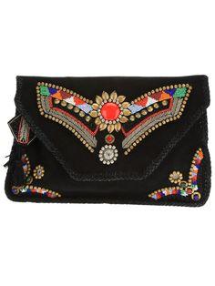 ANTIK BATIK embellished clutch