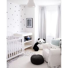 urbanwalls: Beautiful boy's nursery designed by @lightandairy with our mini…