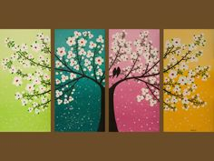 painting.  Could also be done with each canvas representing the four seasons