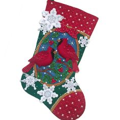 Bucilla Christmas Stocking Completed Christmas by PinsandNeedles0