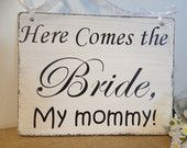 """Adorable sign for your son or daughter to carry down the aisle. The back says, """"And they lived happily ever after!"""""""