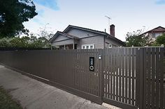 modern square picket fence