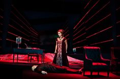 Anne Margrethe Dahl as Tosca at The Royal Theatre, Denmark. Photo: Miklos Szabo   Embroidery: www.sjolanderembroidery.com
