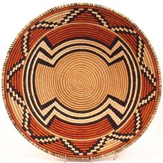Africa | Bukedo and raffia bowl from Uganda | Bukedo is the local term in Uganda for banana leaf stalks | These baskets are traditionally used for serving food in Uganda.