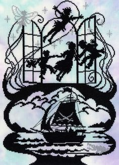Bothy Threads Fairy Tales Peter Pan Counted Cross Stitch Kit - 26x36cm