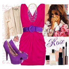 Rose, created by marianna-vintage on polyvore. Fun and bright