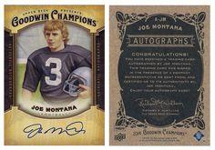 Joe Montana 2014 UD Goodwin Champions A-JM Autograph SP