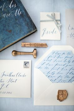 blue + white invitations: Serenity Wedding Theme { Pantone Spring 2016 } : http://www.fabmood.com/serenity-blue-wedding-theme #bluewedding