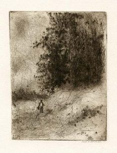 Bohuslav Reynek Postava v krajině / Figure in the Landscape suchá jehla / dry… Monochrome Painting, Drypoint Etching, Wooded Landscaping, Art Story, Art Boards, Painting & Drawing, Printmaking, Graphic Art, Art Gallery