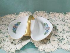 Vintage Nippon Noritake Nut Dish Hand Painted Floral Flowers Enameled Gold Gilt by KansasKardsStudio on Etsy