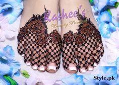 foot henna designs