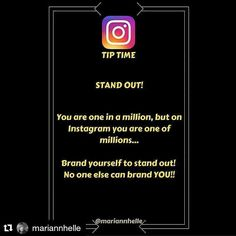 Tip time: You want to be taken notice of am I right...?!  By doing the same as everyone else you'll disappear in the crowd...   BRAND YOU!  Find a way to stand out. No one else can brand YOU!  #repost with @repostapp from @mariannhelle  Want to learn more about building your business online? JOIN the Networking Success Tips FB-community! I would love to welcome you in there!   @mariannhelle    - LINK IN BIO!