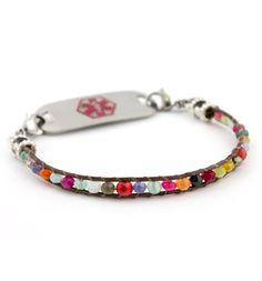 Gemstone Medical ID Bracelet (So gorgeous! And perfect for summer!)