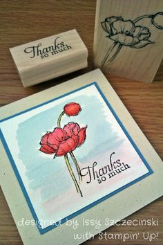 Stampin' Up! Simply Sketched watercoloured.