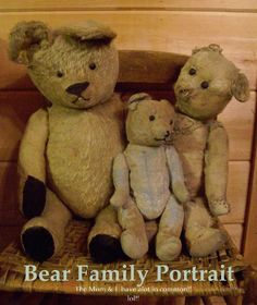 Bear family portrait - from Early Country Antiques