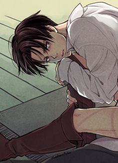 Hey Levi, you okay... * walks up to him and rests my hand in his shoulder*