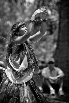Photo: The offering.  Dedicated hula to the Goddess Pele. Rarely seen in public and very intense.