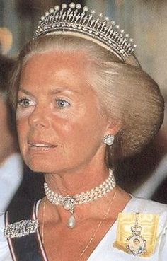 HRH the Duchess of Kent with Kent Pearl Tiara