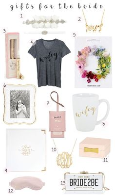 Looking for the perfect gift for your bride to be bestie? Read my top picks for any bride to be in todays gift guide for the mrs. / @SCxo