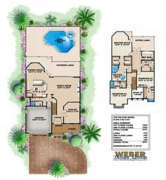 Narrow Lot Floor Plan by Weber Design Group